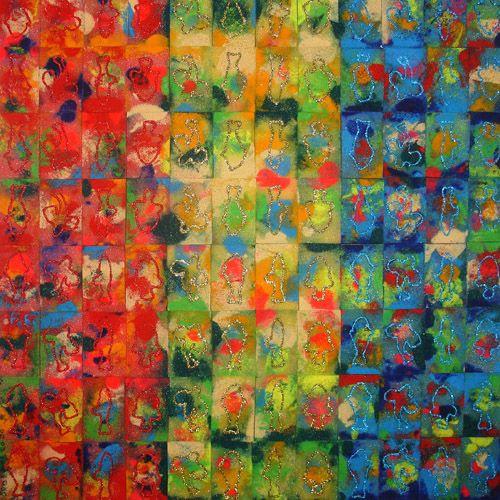 Koraalsponzen (2004), 110x110cm