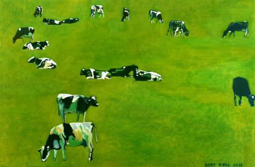 koeien in het weiland 2018 40cm x60cm